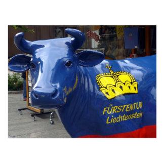 liechtenstein bull postcard