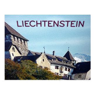 liechtenstein castle postcard