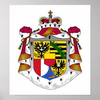 Liechtenstein Coat Of Arms Print