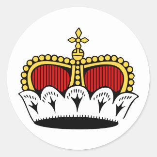 Liechtenstein Crest, Liechtenstein Classic Round Sticker