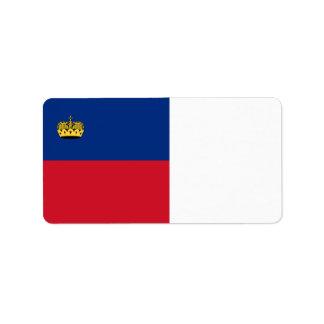 Liechtenstein Flag Address Label