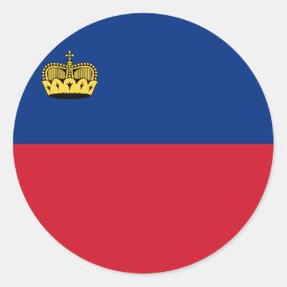 Liechtenstein Flag Classic Round Sticker