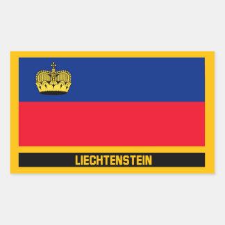 Liechtenstein Flag Rectangular Sticker
