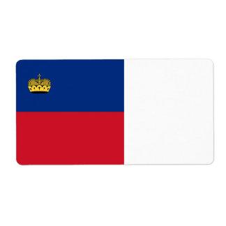 Liechtenstein Flag Shipping Label