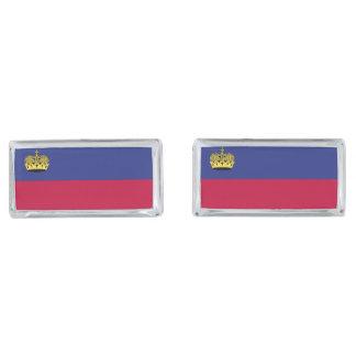 Liechtenstein Flag Silver Finish Cuff Links