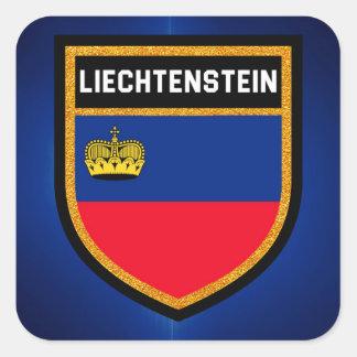 Liechtenstein Flag Square Sticker