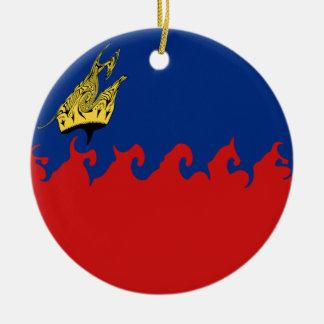 Liechtenstein Gnarly Flag Christmas Tree Ornaments