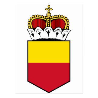 Liechtenstein Lesser Coat Of Arms Postcard