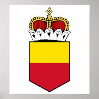 Liechtenstein Lesser Coat Of Arms Print