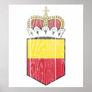 Liechtenstein Lesser Coat Of Arms Poster