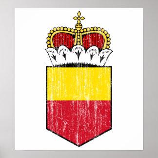 Liechtenstein Lesser Coat Of Arms Posters