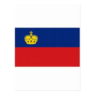 Liechtenstein National Flag Postcard