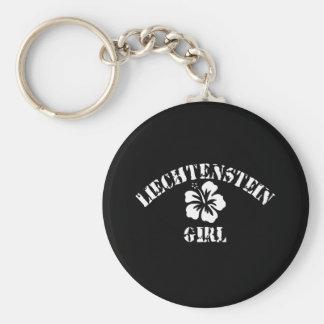 Liechtenstein Tattoo Style Basic Round Button Key Ring