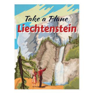 Liechtenstein vintage Travel Poster Postcard
