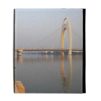 Liede Bridge Over Pearl River iPad Folio Cover