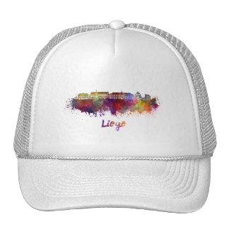 Liege skyline in watercolor cap