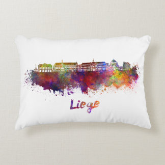 Liege skyline in watercolor decorative cushion