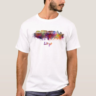 Liege skyline in watercolor T-Shirt