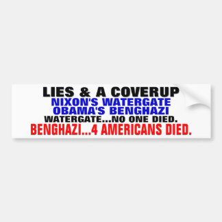 LIES & A COVERUP... OBAMA'S BENGHAZI BUMPER STICKER