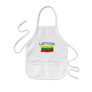 Lietuva (Lithuania) Green Ltrs Kids Apron