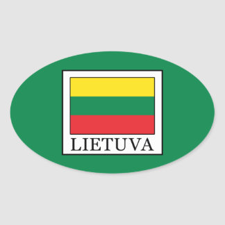 Lietuva Oval Sticker