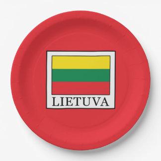Lietuva Paper Plate