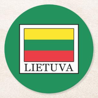 Lietuva Round Paper Coaster