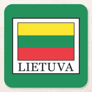 Lietuva Square Paper Coaster