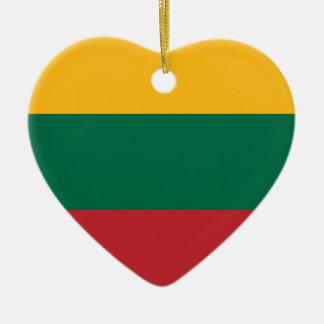 Lietuvos Valstybės Vėliava, Vytis, Lithuania Flag Ceramic Ornament