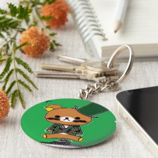 Lieutenant-Bear 2.25 Inch Basic Button Keychain