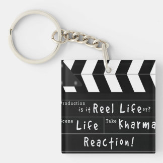 Life, Action, Kharma Keybob Key Ring
