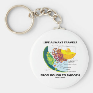 Life Always Travels From Rough To Smooth Keychain