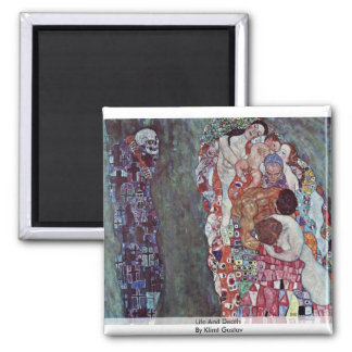 Life And Death By Klimt Gustav Magnet