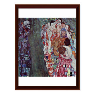Life And Death By Klimt Gustav Postcard