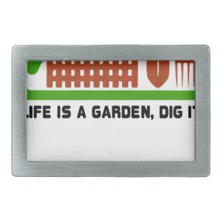 Life and Garden dig it Belt Buckle