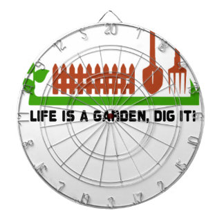 Life and Garden dig it Dartboard With Darts