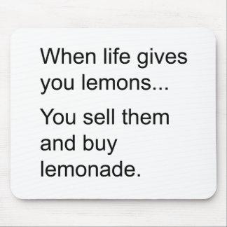 life and its lemons mouse pad