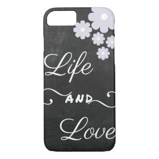 Life and Love- Blackboard- Quote iPhone7 Cover