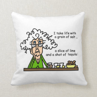 Life and Tequila Humor Cushion