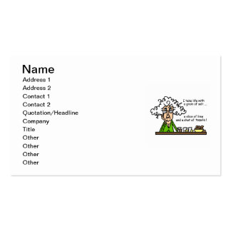 Life and Tequila Humor Pack Of Standard Business Cards
