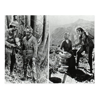 Life and Times of Daniel Boone Vintage Glass Slide Postcard