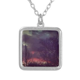 Life As An Oil Painting Silver Plated Necklace