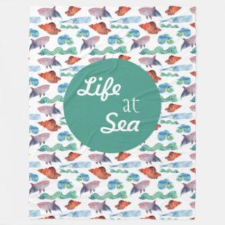Life at Sea Fleece Blanket