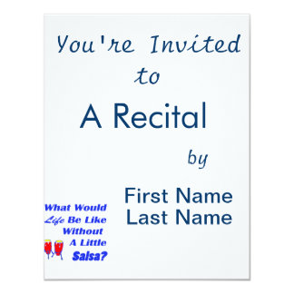 life be like without salsa blue text red congas 11 cm x 14 cm invitation card
