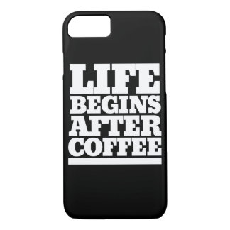 Life begins after coffee iPhone 8/7 case