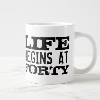 Life begins at 40 funny 40th Birthday big XL mug