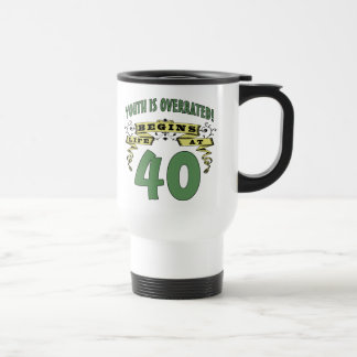Life Begins At 40th Birthday Stainless Steel Travel Mug