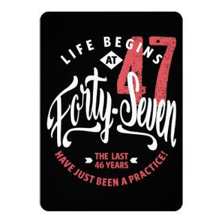 Life Begins at 47 | 47th Birthday Card
