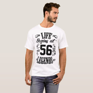LIFE BEGINS AT THE BIRTH OF LEGENDS 1962 T-Shirt