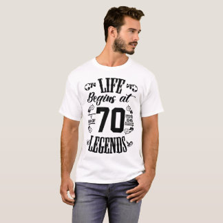 LIFE BEGINS AT THE BIRTH OF LEGENDS T-Shirt